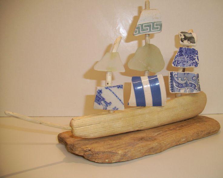 Driftwood Boat @ CroyCrafts