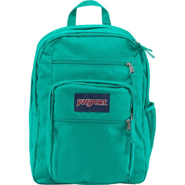 JanSport Big Student Backpack ($46) ❤ liked on Polyvore featuring bags, backpacks, blue, school & day hiking backpacks, expandable bag, pocket bag, jansport, blue bag and jansport rucksack
