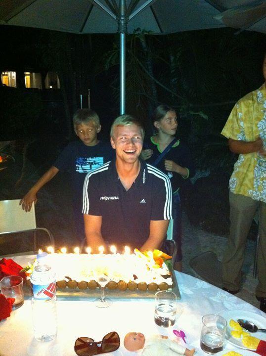 Birthday of Aron Pálmarsson with THW Kiel :) Aron Palmarsson