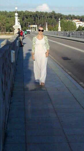 Vestido malha seda. By Alda Faria