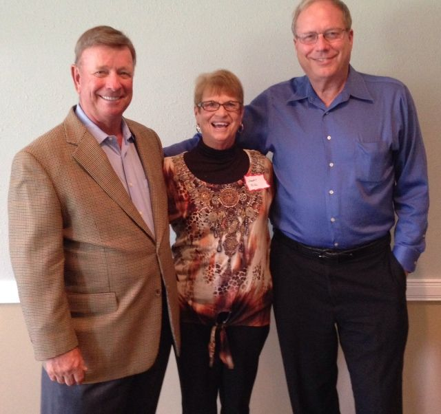Byron & janet Hill with Craig Hullinger at the Sister Cities Perpignan luncheon at the SaraBay Country Club November 4, 2013