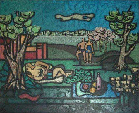 alejandro bonome - bañistas (1971)
