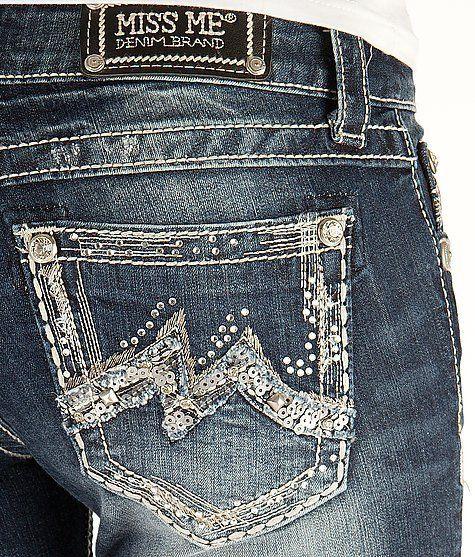 MISS ME JEANS SALE Buckle Low Rise Dark Cuffed Stretch Denim Blue Jean Shorts 26 #MissMe #Jean