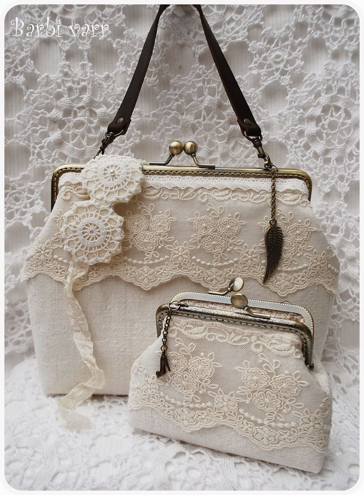Romantic lace bag and purse set
