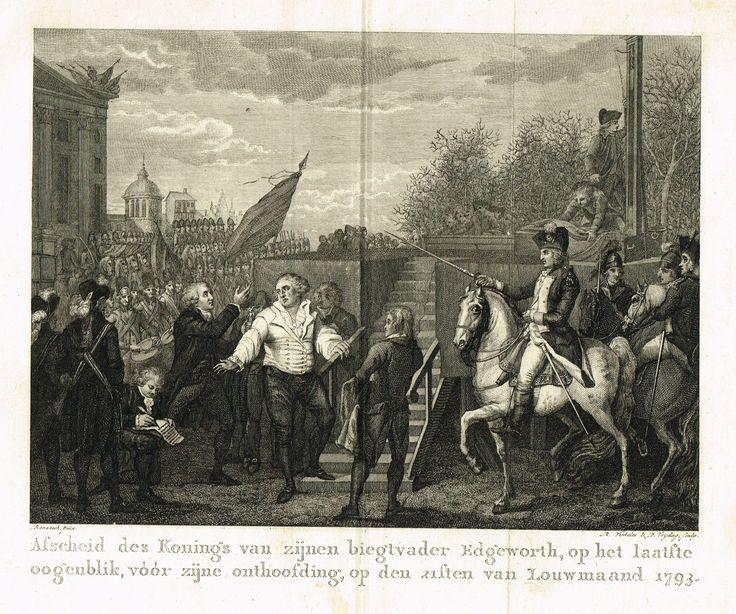 Exécution de Louis XVI le 21 janvier 1793gravé par R. Vinkeles & D. Vrydag d'après Benazech