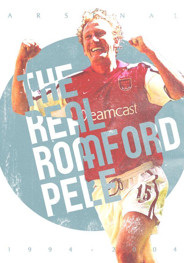 Ray Parlour.  Football Poster designs by Joe Bargus, via Behance