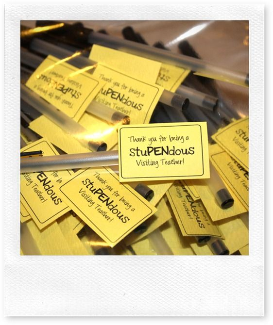 FUN~Lots of cute ideas for visiting teachers, etc.   noisypancakes.blo...