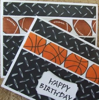 Stampin Up Basketball and Football Sports Cards