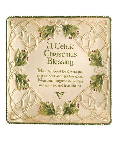 Look what I found on #zulily! Celtic Christmas Blessing Platter #zulilyfinds