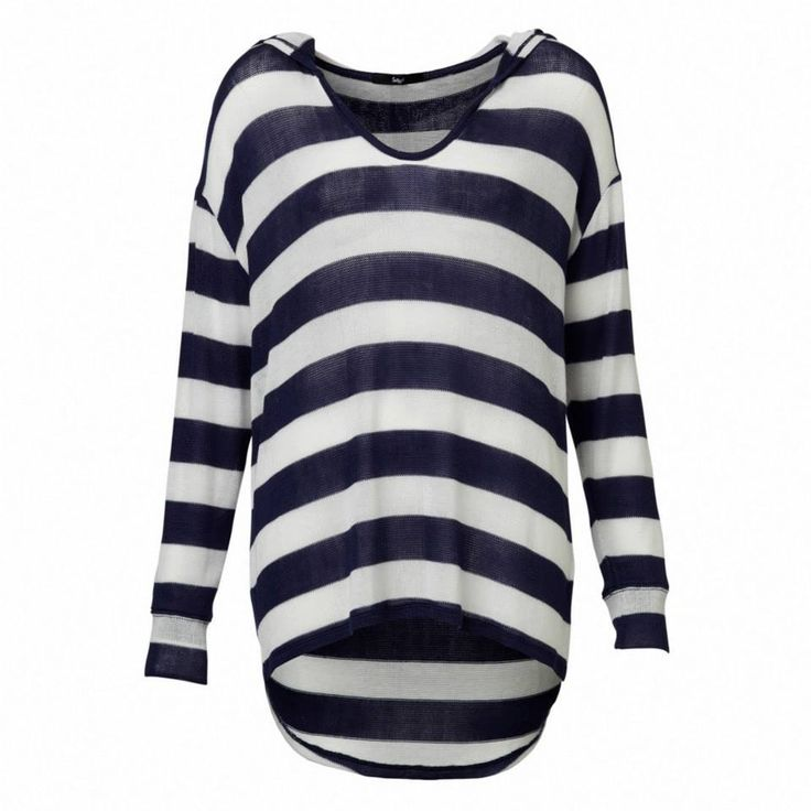 Stripe Hooded Slouch Top #sportsgirl