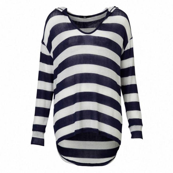 Stripe Hooded Slouch Top #sportsgirl