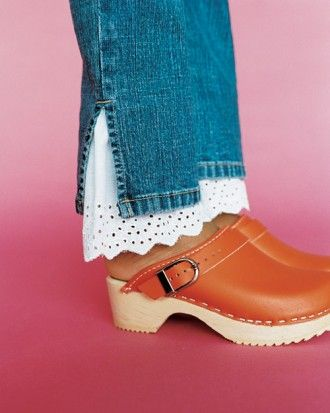 Hmmmnnn ... Lengthening jeans that have become too short over the Summer ... VERY CUTE IDEA. mslkids_sum2002_m3sx_shoes.jpg