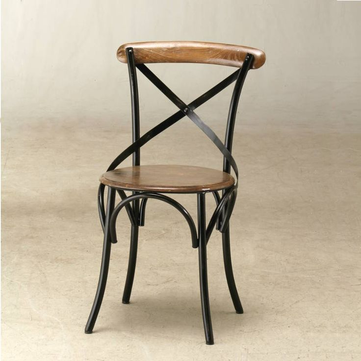 Wooden And Iron Bistro Chair   ATFUVF413