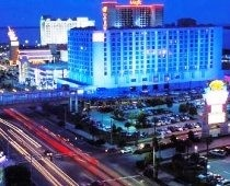 Biloxi, MS. Stayed at the Beau Rivage (their equivalent of the Mirage). Dirtiest place on Earth because no one washed their hands. Ever.
