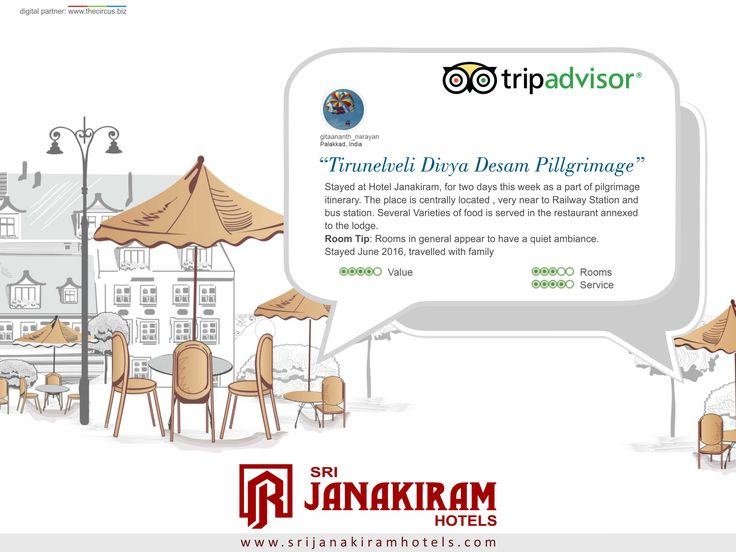 "#Happy_Customer ""GOOD AND EXCELLENT ROOM"" was an happy review given by our valuable customer Mr.Gitaananthnarayan, We are really happy to serve a guest like you who prefer staying with us. We look forward in seeing you with your family again to serve you more better.  Thank you once again.  #Srijanakiram #review #tripadvisor."
