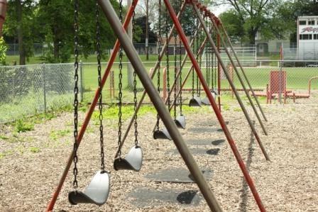 Swings.  Wherever, whenever.