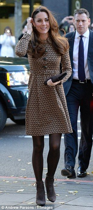Duchess Catherine  Where: Only Connect in London Dress: Orla Kiely
