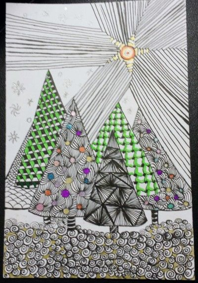 Zentangle Diva's weekly challenge number 197 - Akuras