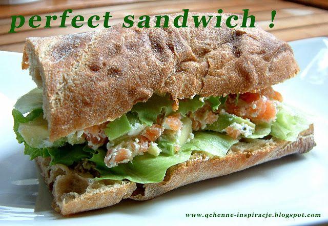 sandwich z łososiem