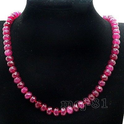 5x8mm-Faceted-Brazil-Red-Ruby-Gems-Necklace-18-AAA
