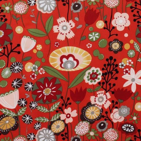 Drygoods Design — Alexander Henry Indochine Kaori Floral Red