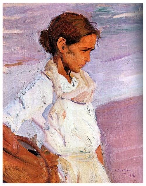 """Joaquin Sorolla - """"Pescadora Valenciana"""" (1916)"""