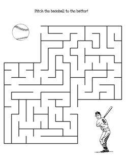 printable baseball maze game medium ot ideas pinterest game maze and medium. Black Bedroom Furniture Sets. Home Design Ideas