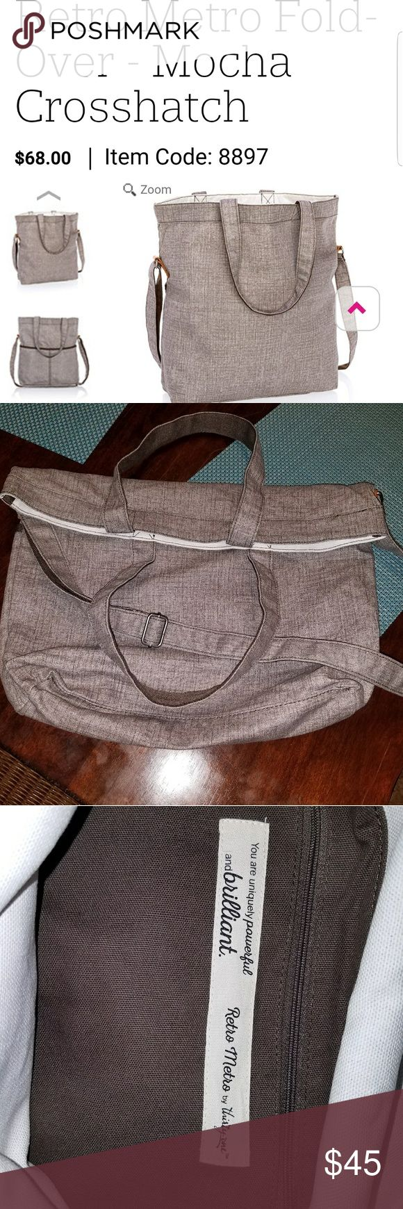 Retro Metro Bag. NEW Brand new Thirty One Retro Metro Bag. Sells for $68....wanted purse size, didn't realize it was so large. Brand new, never used. Thirty One Bags Crossbody Bags