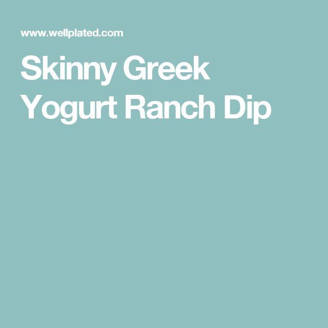 Skinny Greek Yogurt Ranch Dip