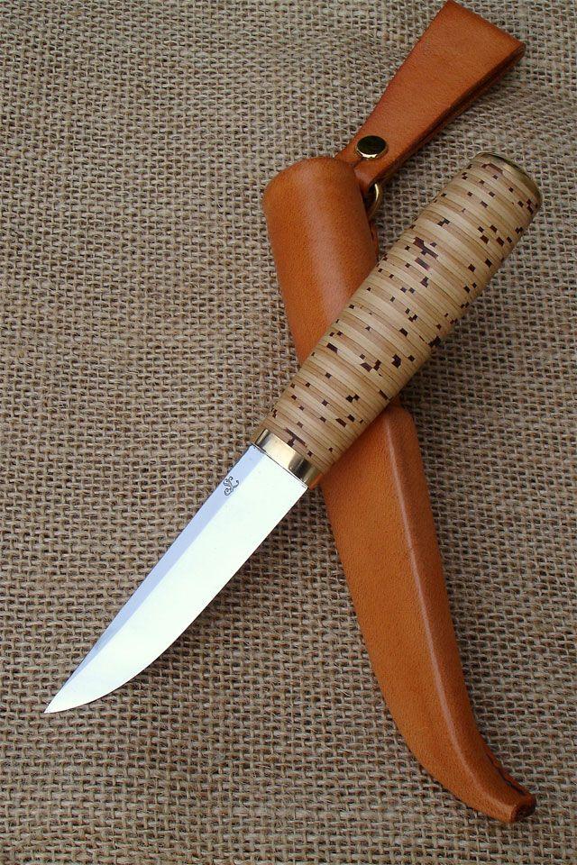 Tuohipuukko (Birch bark puukko) and sheath