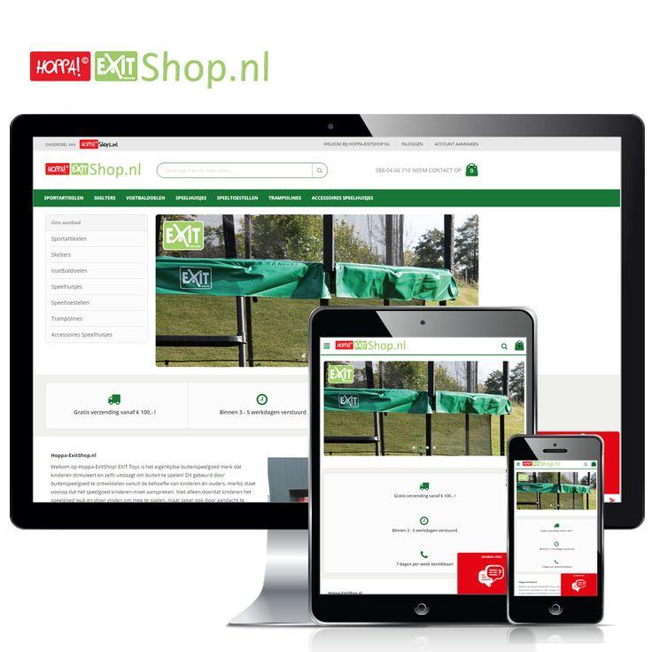 www.Hoppa-Exitshop.nl -  Op onze vernieuwde webshop vind je het merk EXIT Toys! Het eigentijdse buitenspeelgoed merk dat kinderen stimuleert en zelfs uitdaagt om buiten te spelen! Exit ziet beleving en fantasie van het kind zijn dan ook de belangrijkste inspiratiebron.  Volg Hoppashops ook op: LinkedIn - https://www.linkedin.com/company/hoppa-shops-bv