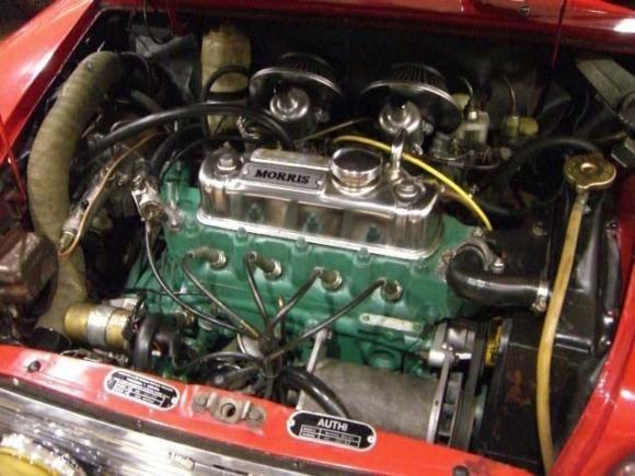 Authi Mini 1275C engine bay