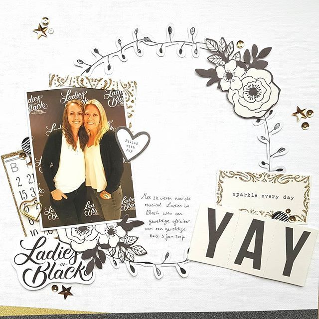 I am so in love with the @cratepaper Carousel collection! Made a black and white layout using the beautiful ephemera and cut file by @justnickstudio. I doodled the wreath as finishing touch. • • #cratepaper #cpcarousel #maggieholmes #maggieholmescarousel #scrapbooking #scrapbook #scrapbooklayout #silhouettecameo @silhouette.inc