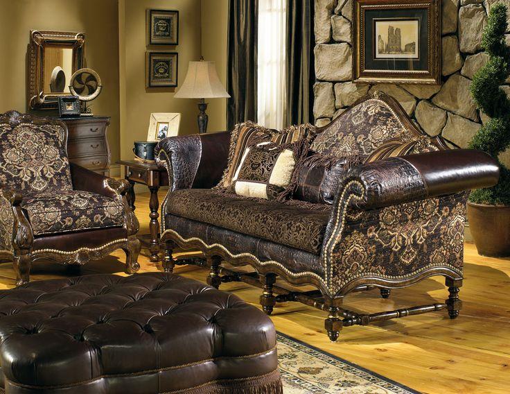 cozy family room fabric leather sofa hacienda sofa living room decorating ideas. Black Bedroom Furniture Sets. Home Design Ideas