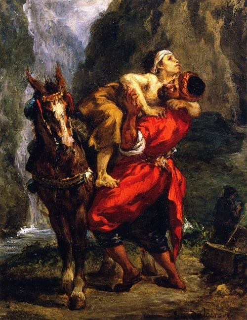 The Good Samaritan - Eugene Delacroix ~1850 ~Via Niels Hiort
