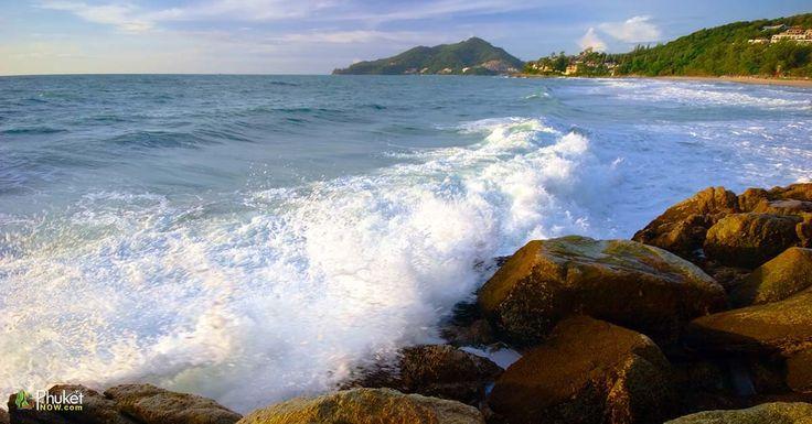 Evening tide. View from surin beach on the sea. Phuket island. Andaman sea. Kingdom Thailand