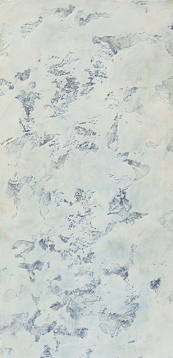 """ stone Lion I "" encaustic by Patricia Dusman 36"" x 18"""