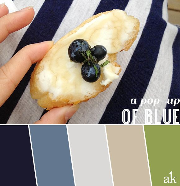 a summer-blueberry-inspired color palette // navy, blue, gray, taupe, green // pop-up dinner by The Peached Tortilla
