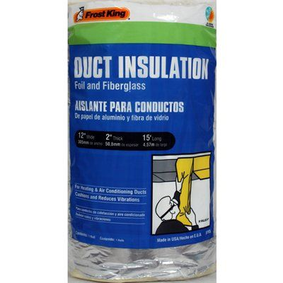 Frost King 2-in Foil and Fiberglass Duct Insulation