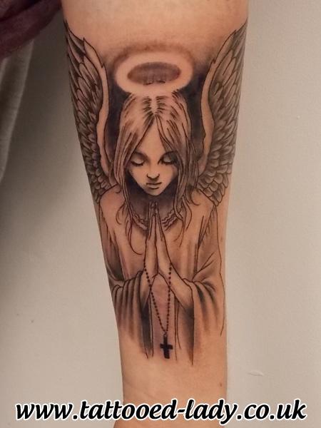 Angel Tattoo by Tattooed Lady
