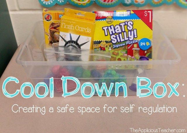 Using a Cool Down Box: Helping students Self Regulate and Reflect - The Applicious Teacher