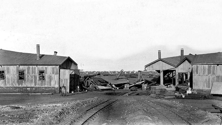 NZASM Locomotive Sheds after the Explosion | Flickr - Photo Sharing!