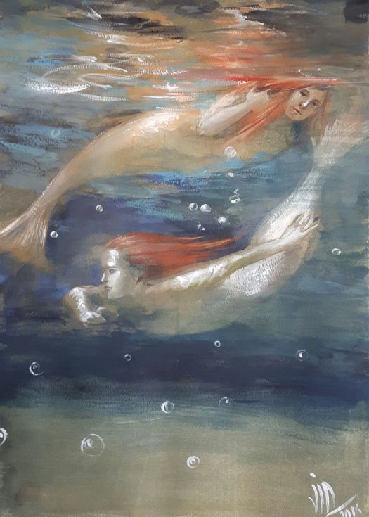 Buy Reflexions.From the Naiad series .Painting of underwater environment, Mixed Media painting by Vali Irina Ciobanu on Artfinder. Discover thousands of other original paintings, prints, sculptures and photography from independent artists.