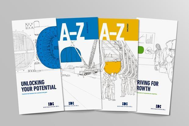 brochures, line work