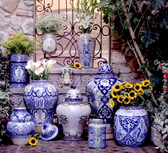 Use Talavera Tiles as a backdrop to our Mexican ceramic vases!