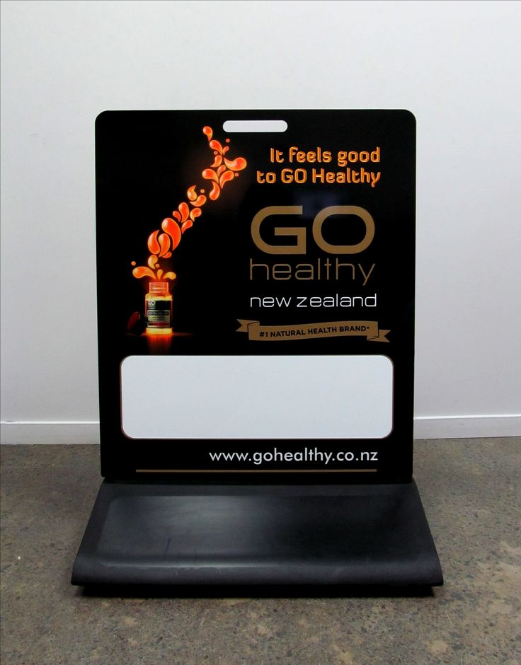 Footpath Sign for Go Healthy by Speedy Signs Newton
