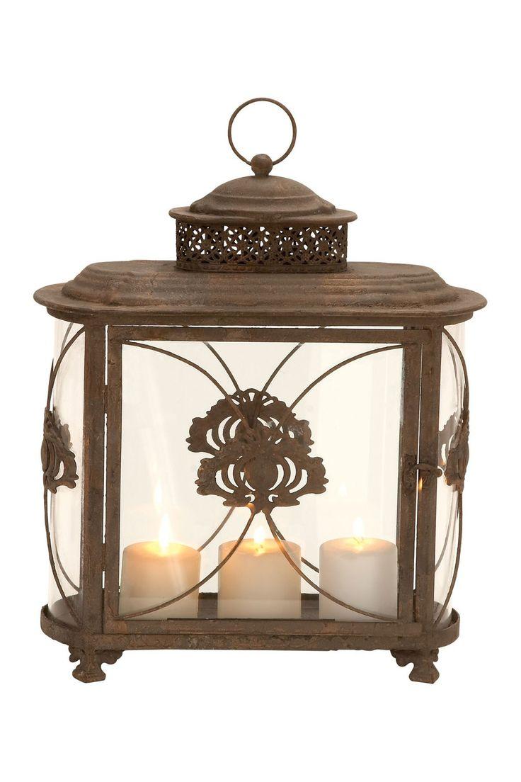 Metal lantern lanterns pinterest for Wire candle lantern