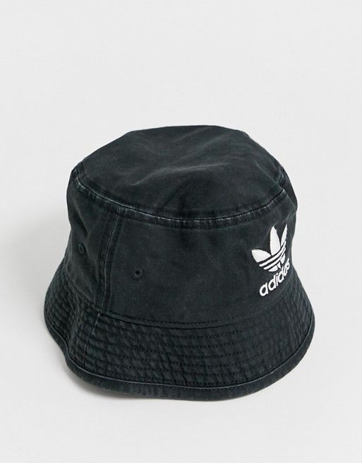 cc20d40a adidas Originals trefoil logo bucket hat in black in 2019 | Summer ...