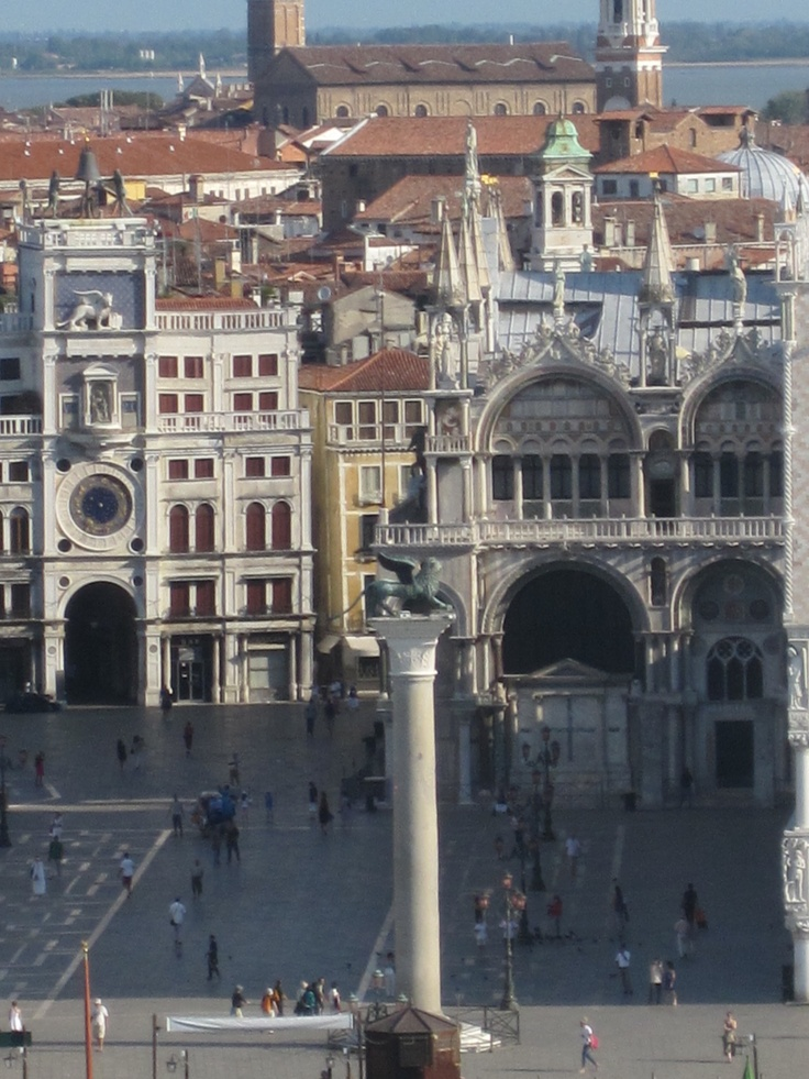 Early morning view of #PiazzaSanMarco in #Venice as the ship sailed slowly past
