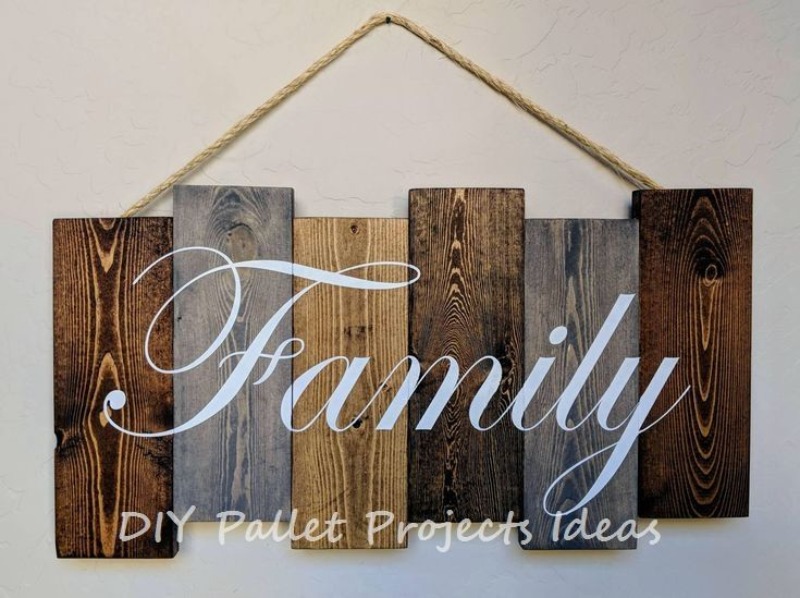 New Great Diy Ideas For Pallet Signs Diypalletproject Pallet Wood Wall Art Decor Wood Pallet Projects Pallet Signs Family